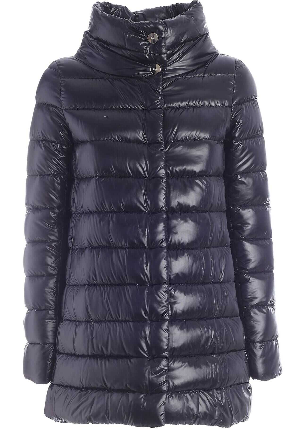 Herno Iconico Amelia Down Jacket In Black Black