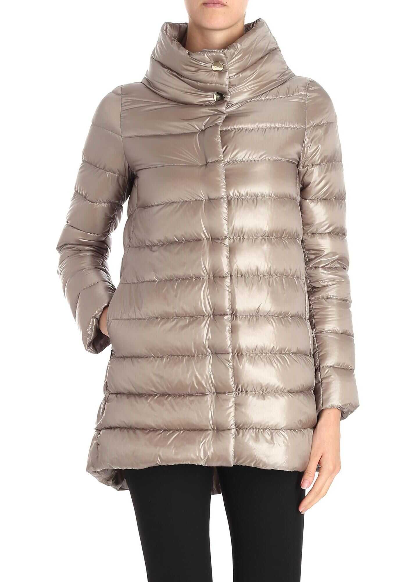 Herno Iconico Amelia Down Jacket In Beige Beige