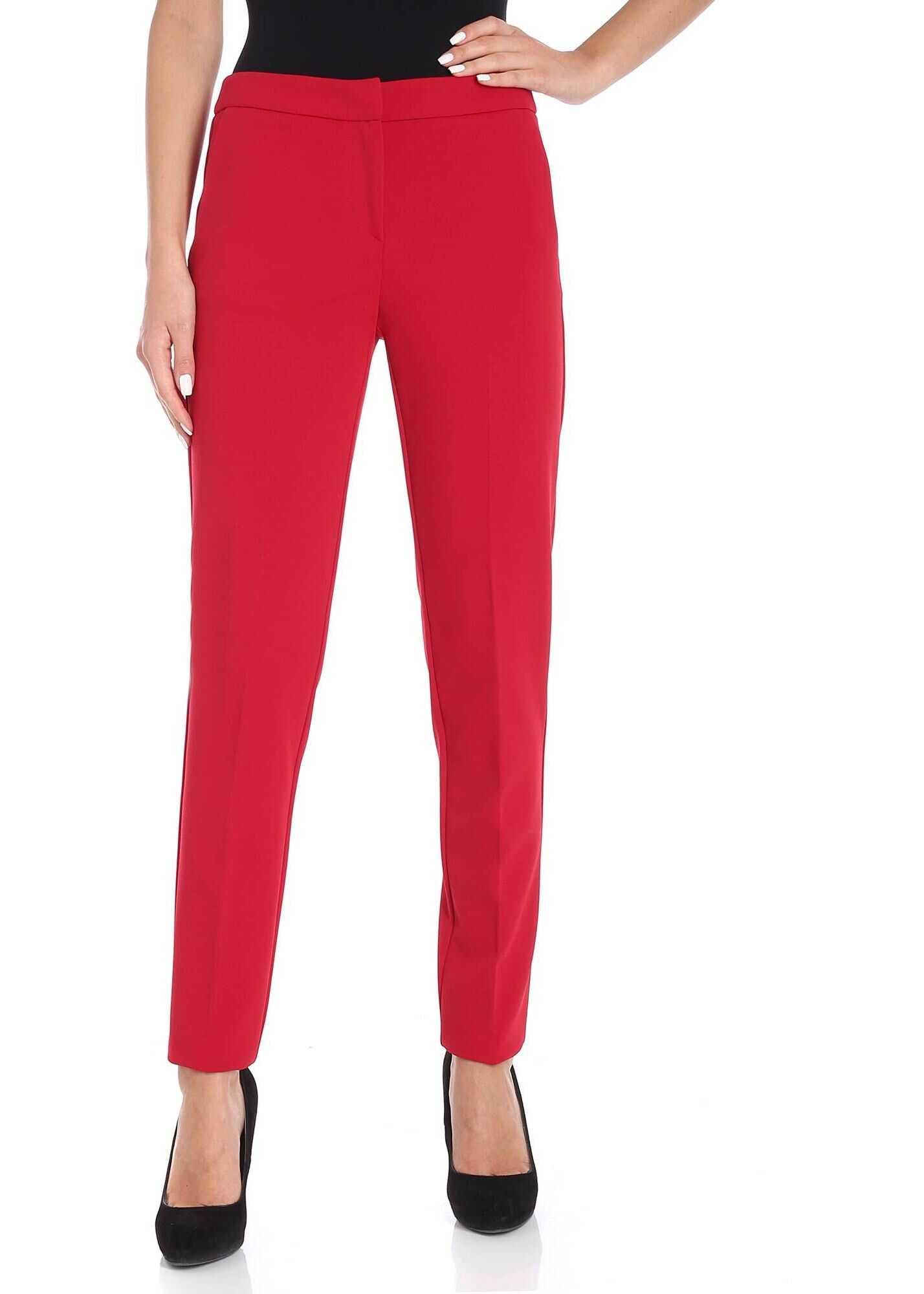 Blugirl Red Cigarette Trousers Red