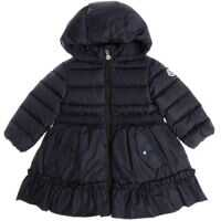 Geci de Puf Blue Vairea Down Jacket With Ruffles Fete