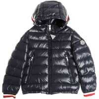 Geci de Puf Blue Alberic Down Jacket With Multicolor Cuffs Baieti