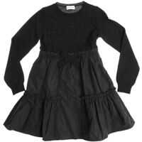 Rochii Black Virgin Wool Dress With Flounced Skirt Fete