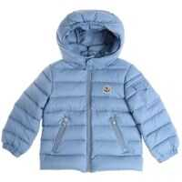 Geci de Puf Light Blue Jules Down Jacket With Hood Baieti