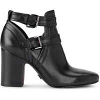 Ghete & Cizme Blaze Iblack Leather Ankle Boots With Buckle Femei