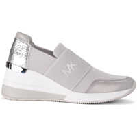 Tenisi & Adidasi Michael Kors Felix Grey And Silver Fabric And Leather Sneaker