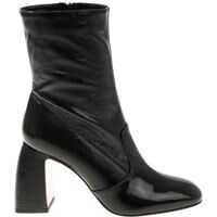 Ghete & Cizme Black Patent Leather Boots Femei
