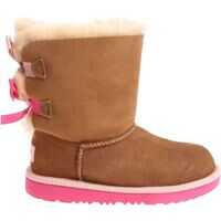 Ghete Camel And Pink Bailey Bow Ii Ankle Boots Fete