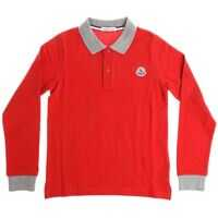 Tricouri Polo Red Polo With Grey Trims Baieti