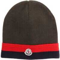 Sepci Green Wool Beanie With Logo Baieti