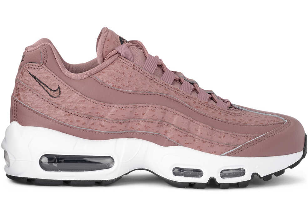 Nike Model Air Max 95 Mauve Leather And Fabric Sneaker Pink