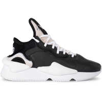 Tenisi & Adidasi Y-3 Kaiwa Black And White Leather And Neoprene Sneaker