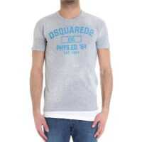 Tricouri DSQUARED2 Gray T-Shirt With Flock Print*