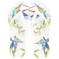 Slapi Beaulup Flip Flops In White Multicolour Femei