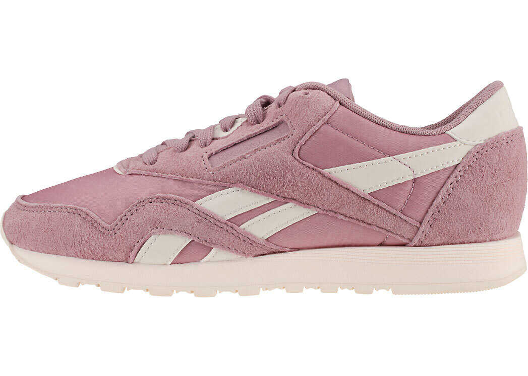 Reebok Classic Nylon Trainers In Lilac Blue