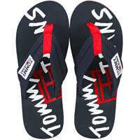 Slapi Tj Graphic Print Beach Sandal Flip Flops In Midnight Navy Barbati
