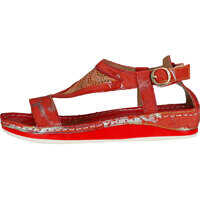 Sandale Bruel 10 Sandals In Red Silver Femei
