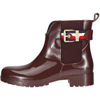 Ghete & Cizme Corporate Belt Rain Wellington Boots In Chocolate Femei