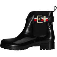 Ghete & Cizme Corporate Belt Rain Wellington Boots In Black Femei