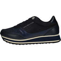 Tenisi & Adidasi Metallic Retro Runner Trainers In Midnight Navy Femei