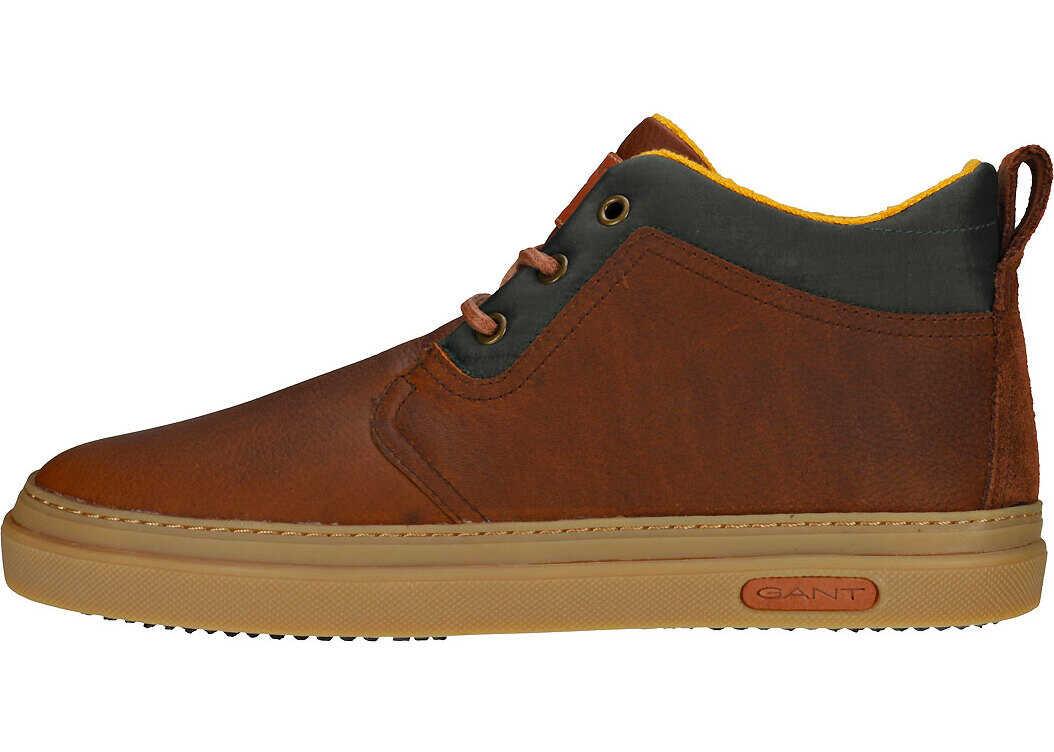 GANT Marvel Chukka Boots In Cognac Brown