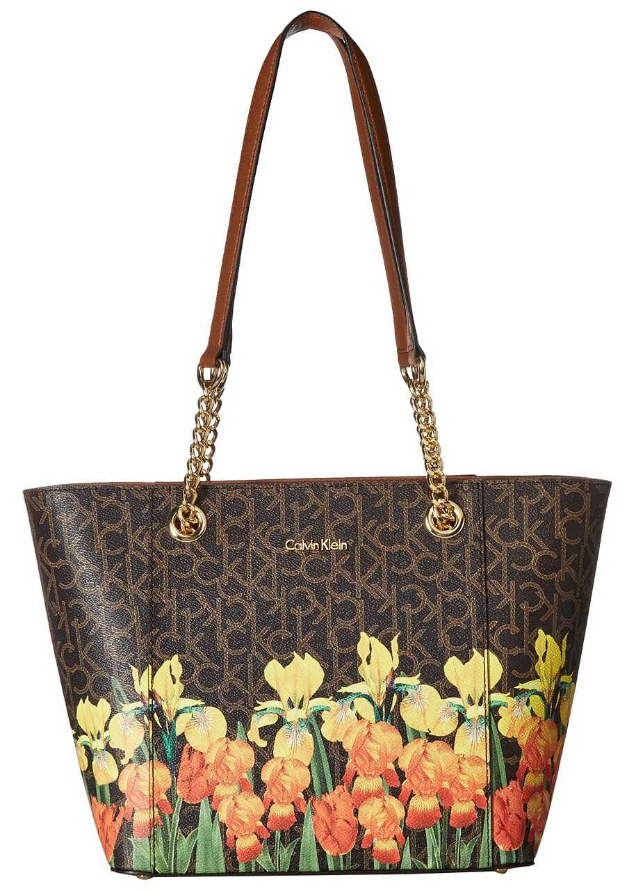 Calvin Klein Monogram East/West Tote Iris Multi