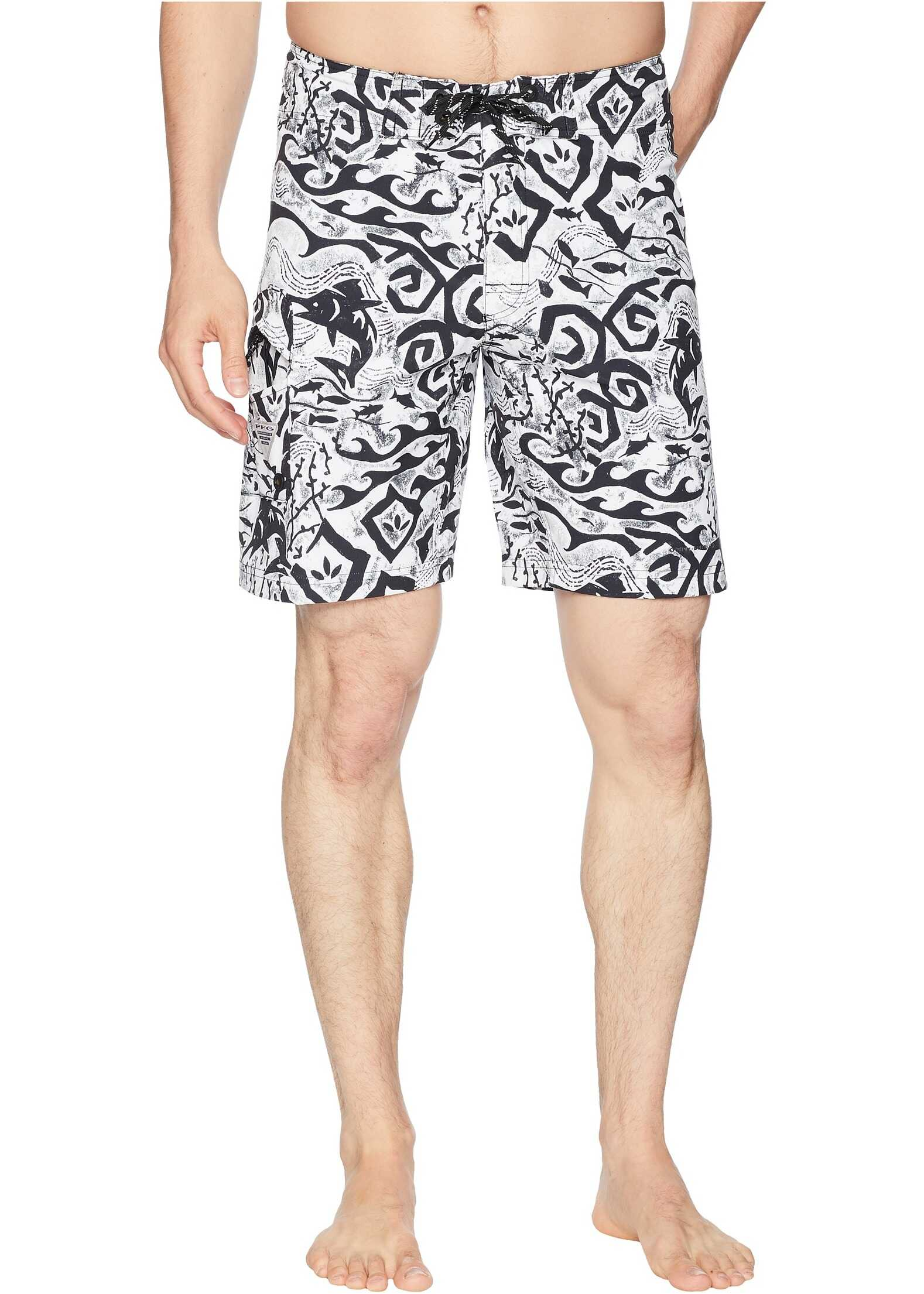 Columbia PFG Offshore II 9 inch Board Shorts Black Deep Sea Batik
