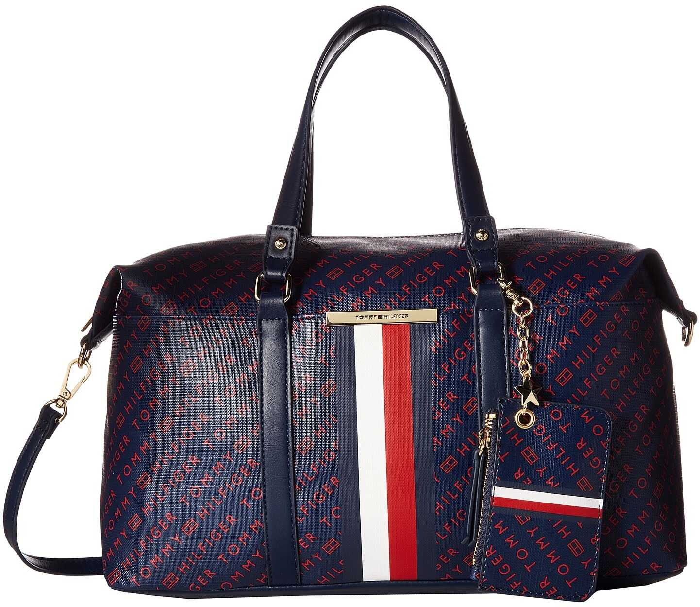 Tommy Hilfiger Dacia Convertible Satchel Navy/Red