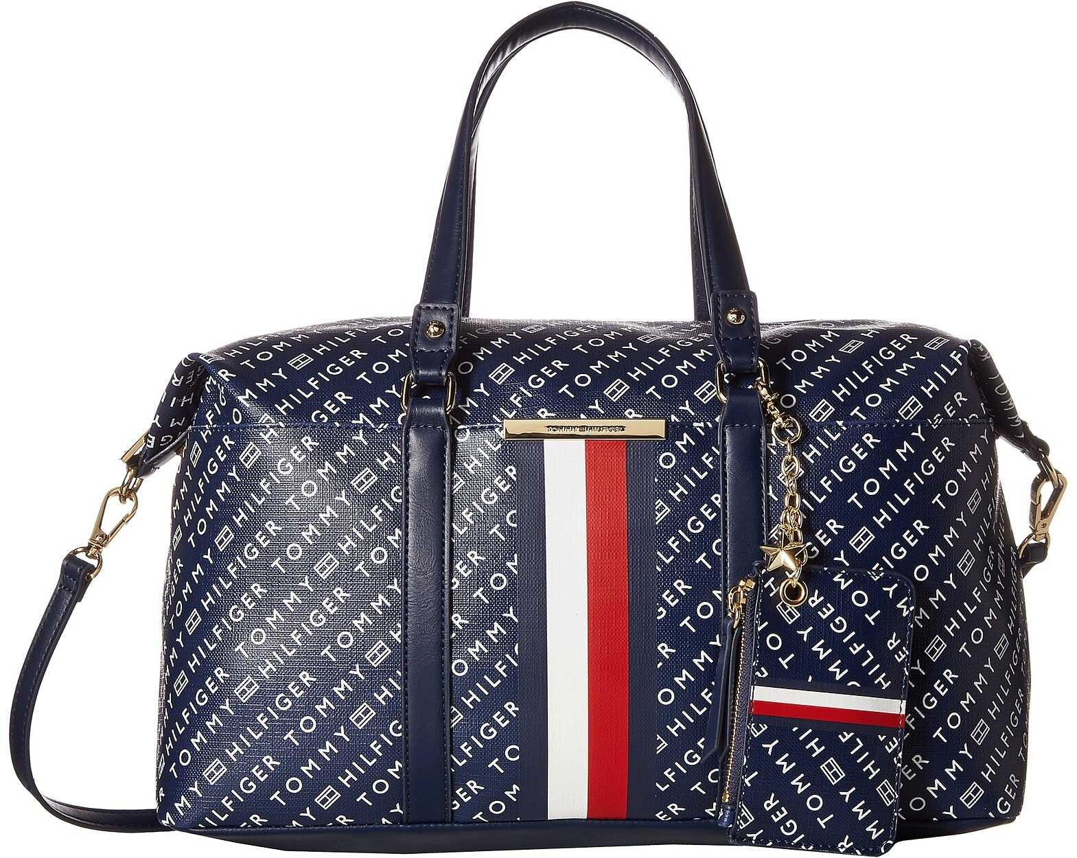 Tommy Hilfiger Dacia Convertible Satchel Navy/White