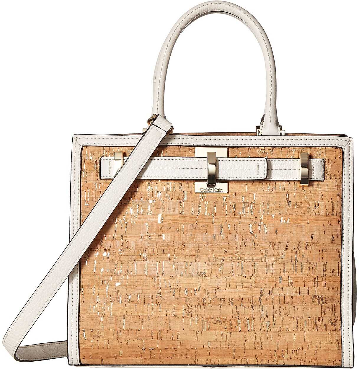 Calvin Klein Faye Cork Satchel Natural