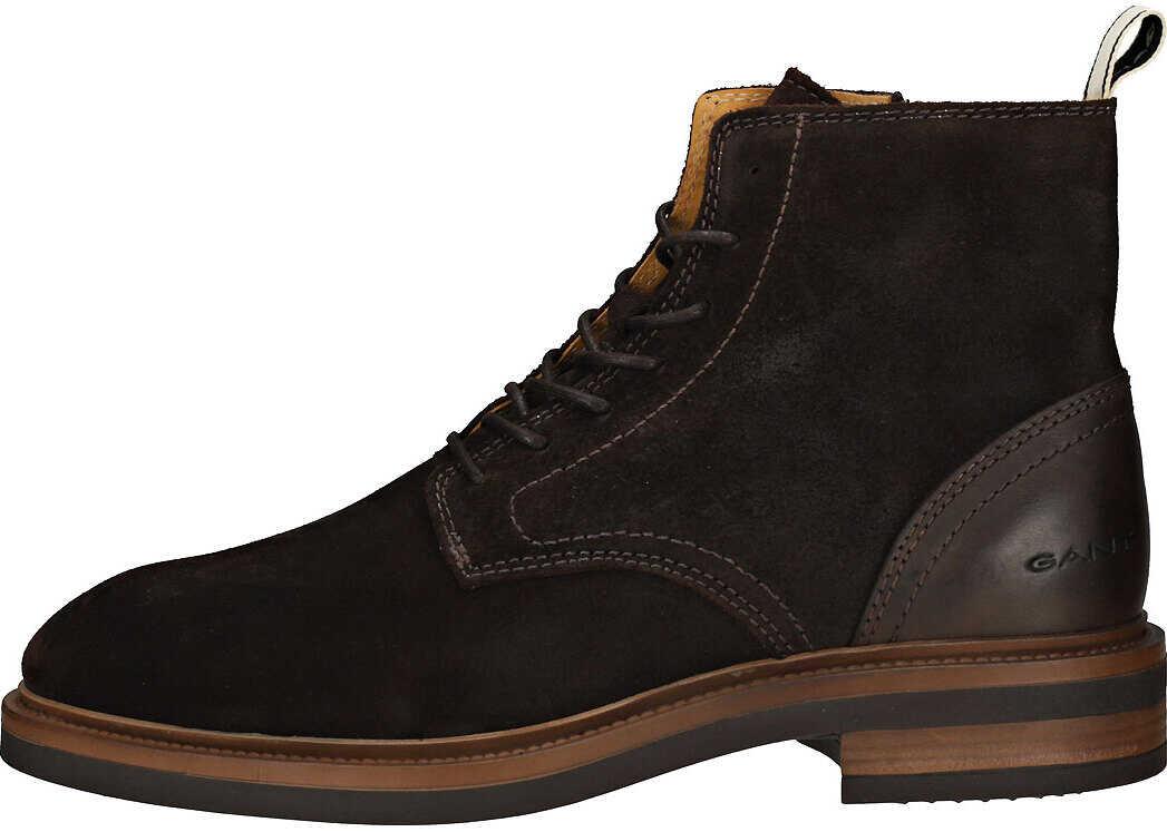 GANT Martin Boots In Dark Brown Brown