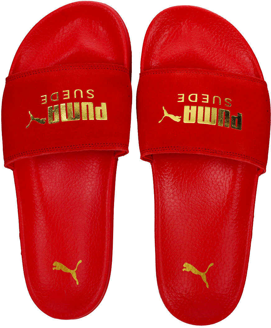 PUMA Leadcat Unisex Slide In Red Gold Red