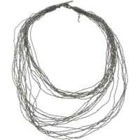 Coliere Anthracite Nickel Danae Necklace Femei