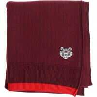 Esarfe Blue And Red Scarf With Tiger Logo Barbati