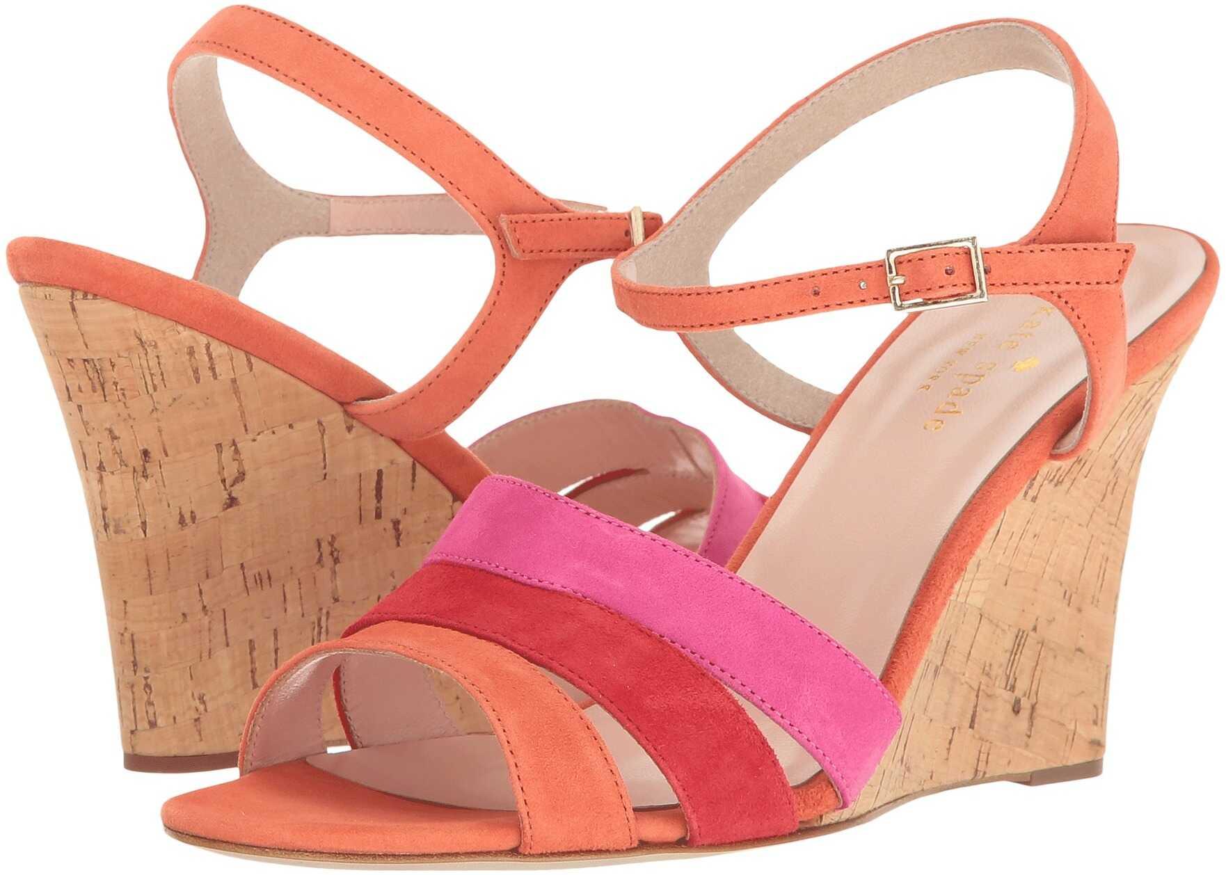 Kate Spade New York Tamara* Orange/Poppy Red/Pink Swirl Kid Suede