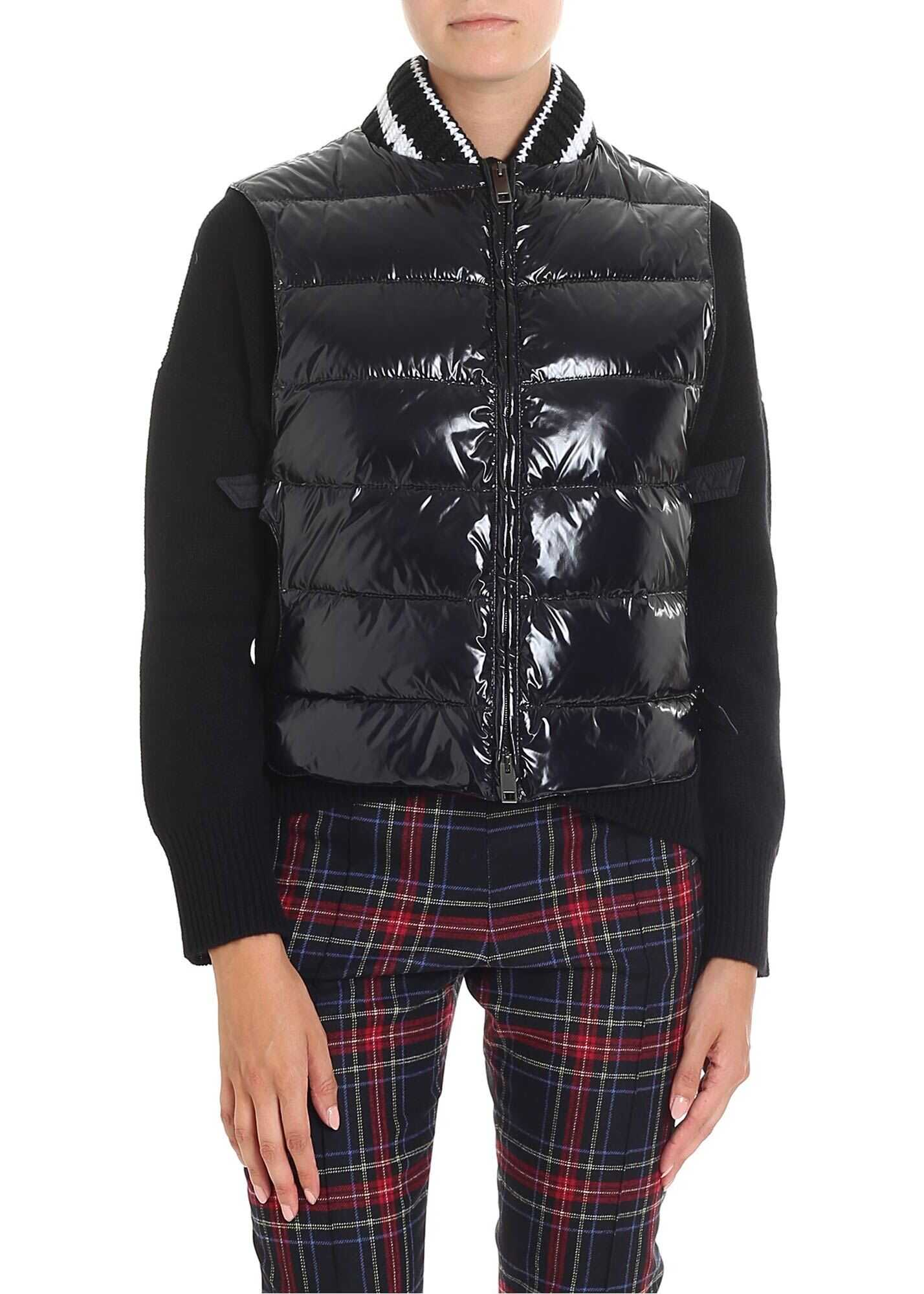 Ermanno Scervino Black Sleeveless Down Jacket With Straps Black