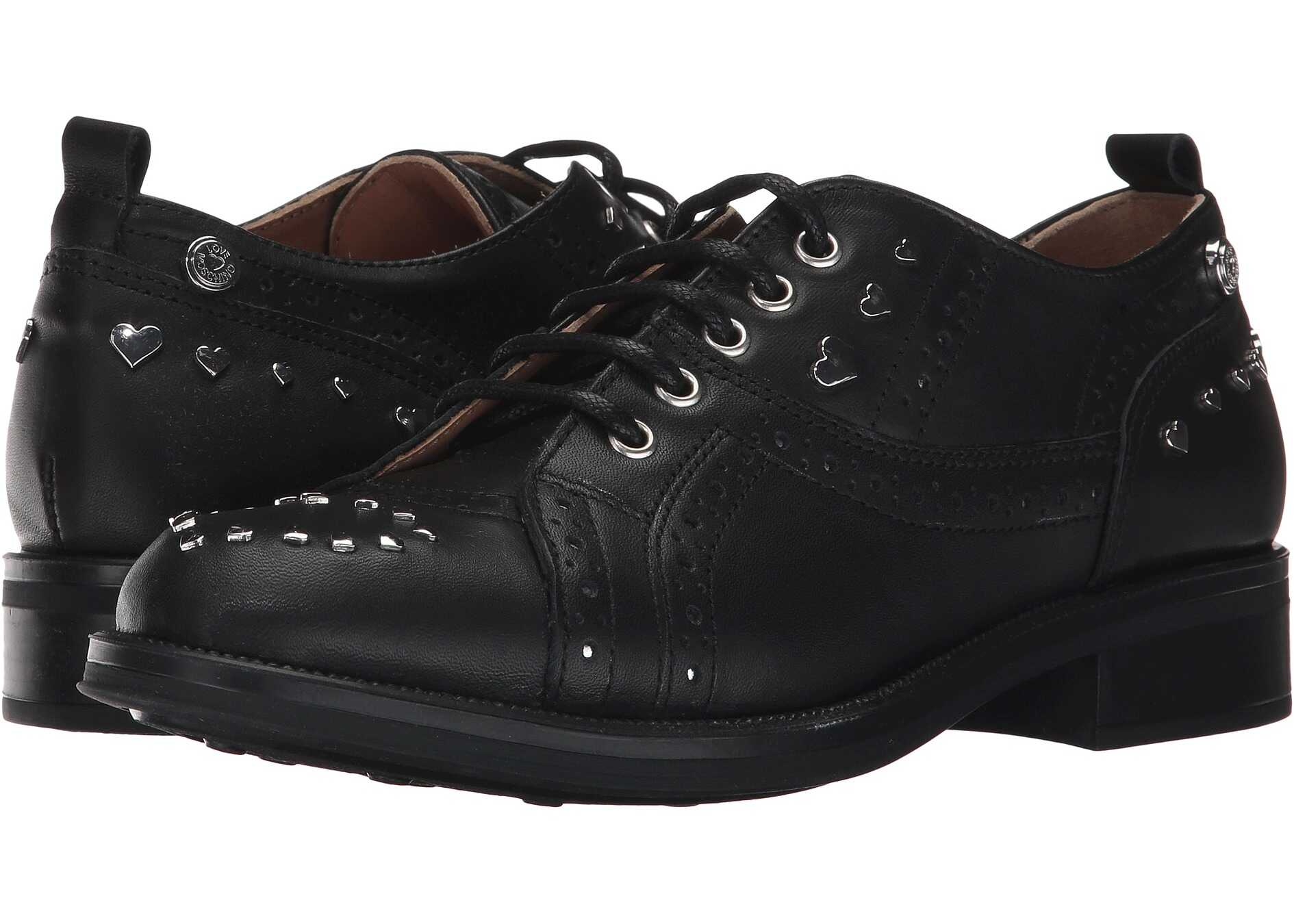LOVE Moschino Brogue Black/Silver