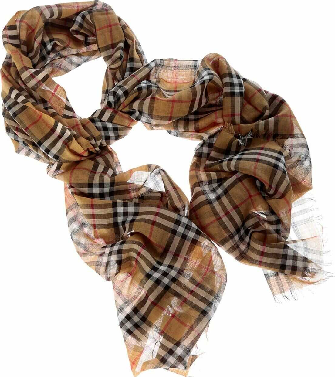 Burberry Wool And Silk Scarf Yellow