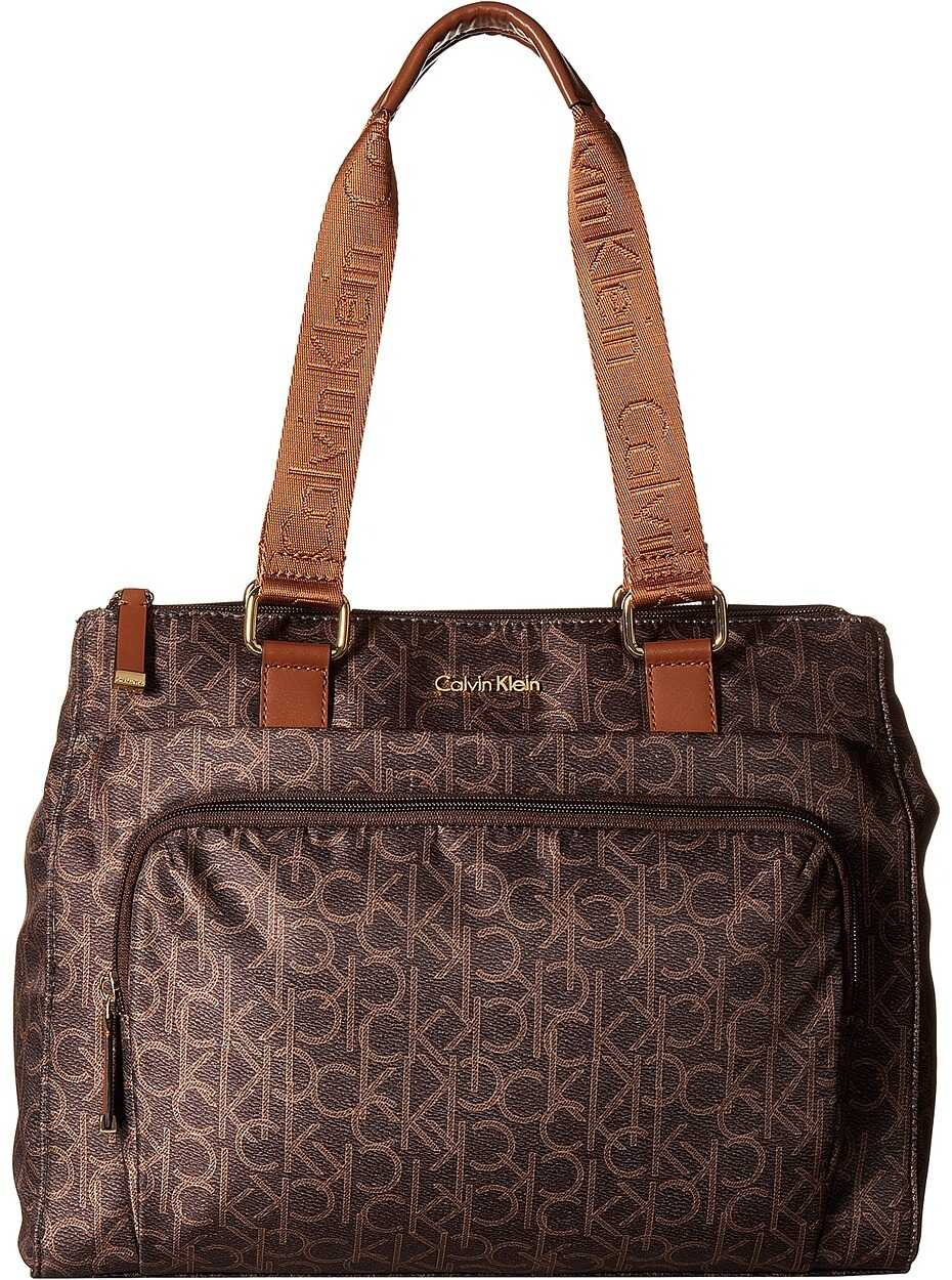 Calvin Klein Belfast Nylon Tote Brown/Khaki/Luggage