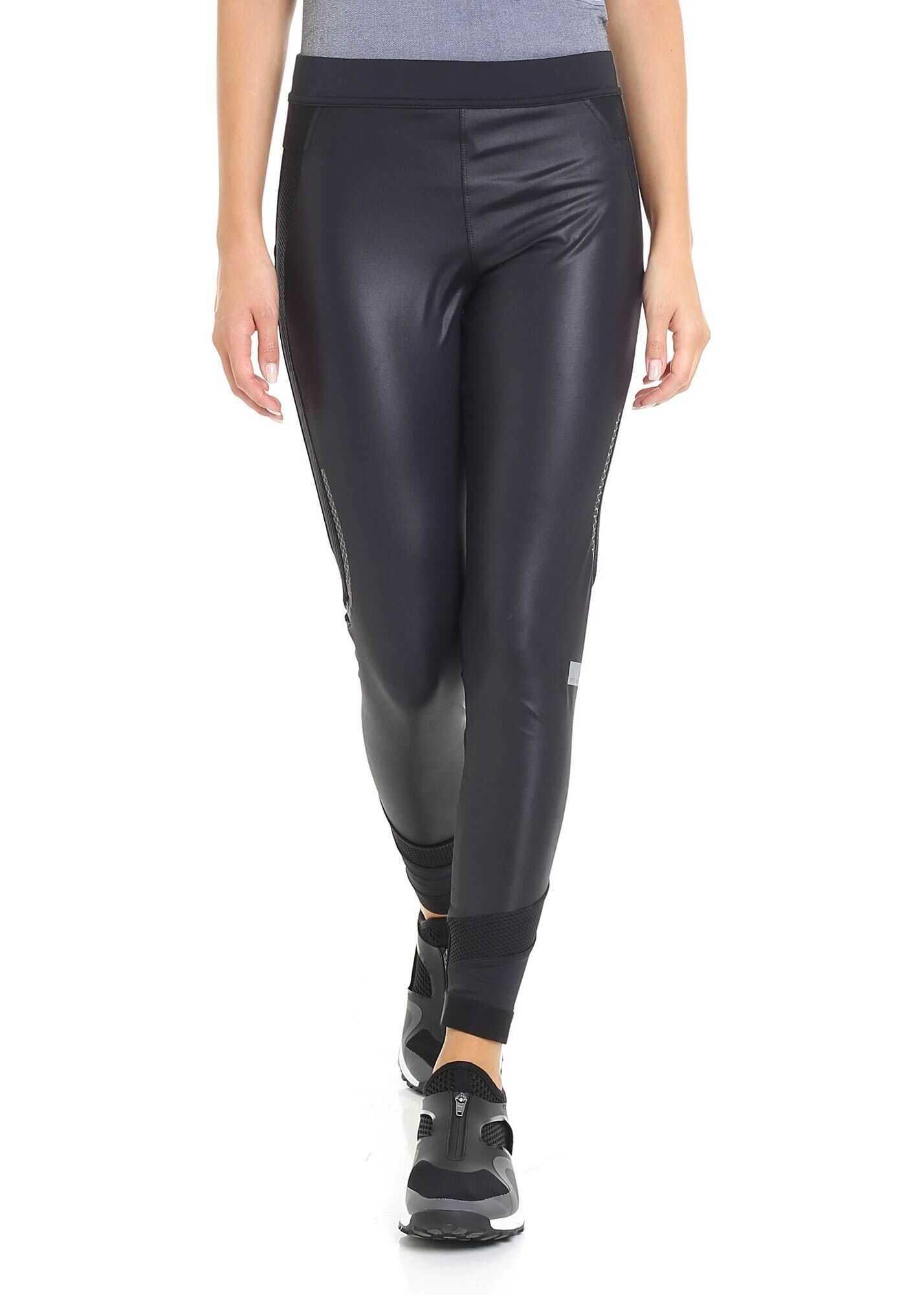 adidas by Stella McCartney Black Leggings With Waist Branded Band Black
