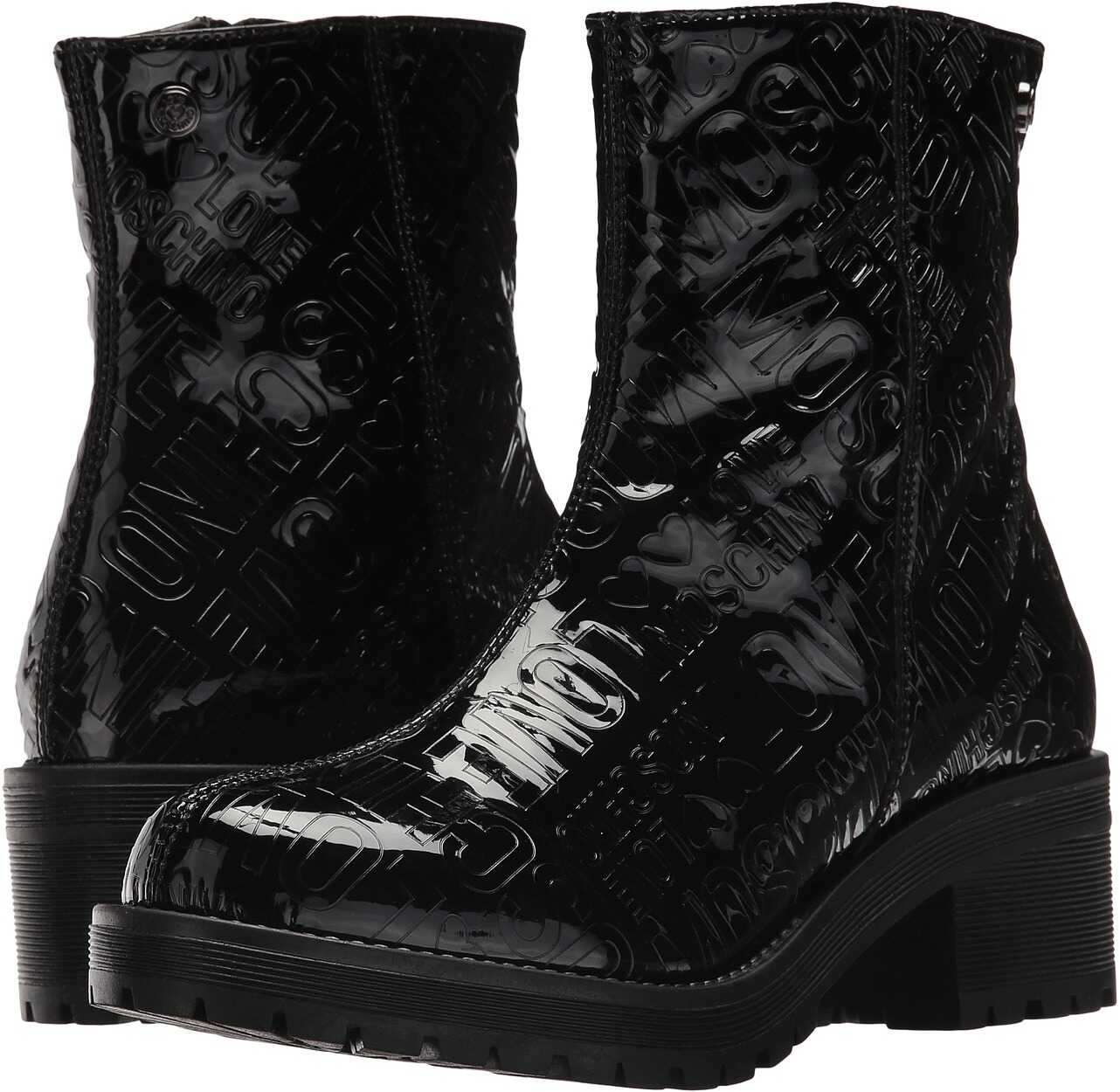 LOVE Moschino Short Rain Boots Black