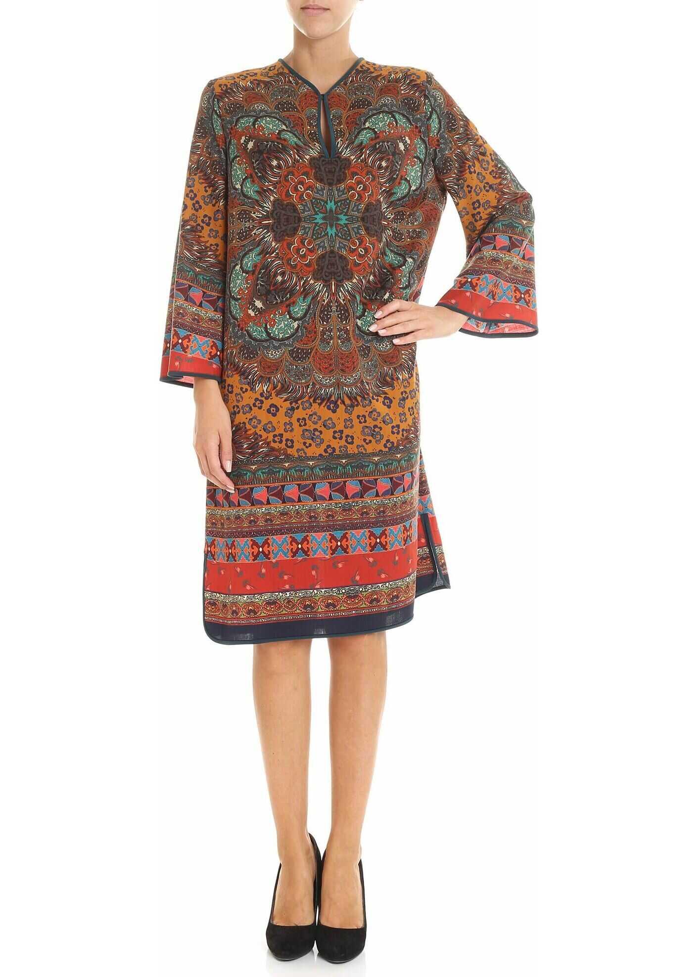 ETRO Multicolour Western Nouveau Printed Dress Multi
