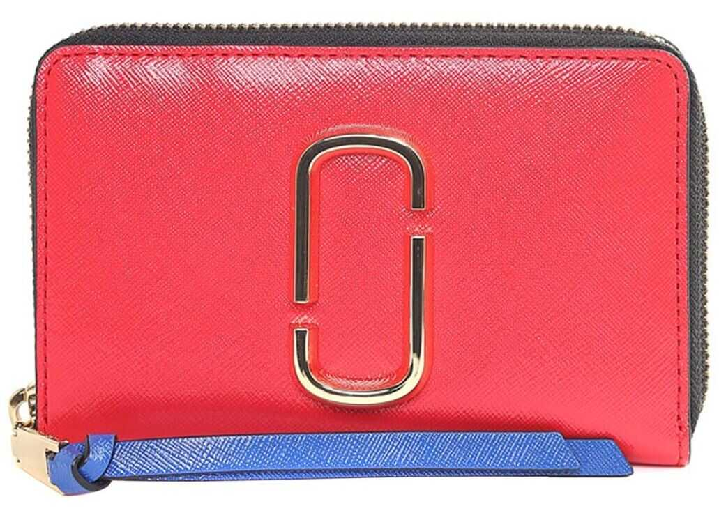 Marc Jacobs Red Snapshot Compact Colorblock Wallet Multi