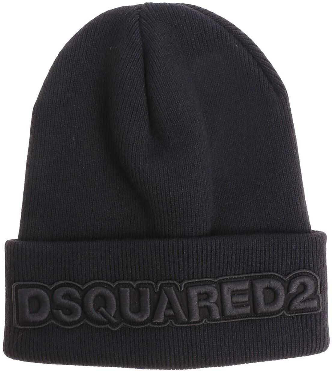 DSQUARED2 Black Branded Beanie Black