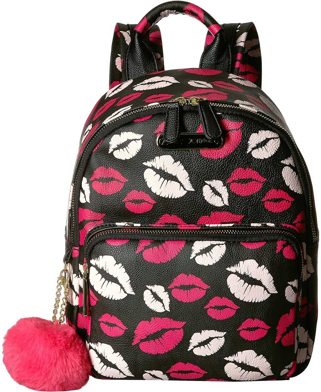 Betsey Johnson Medium Backpack Black Multi