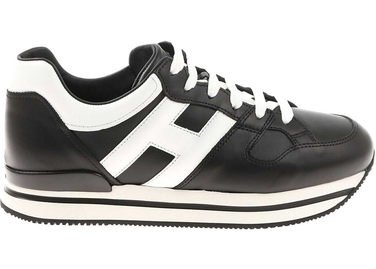 Hogan H222 Black And White Sneakers Black