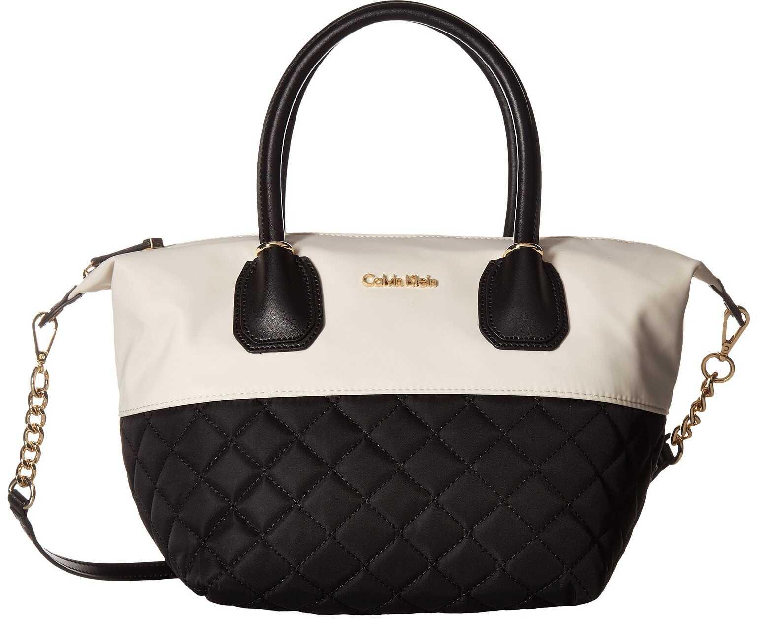 Calvin Klein Florence Small Nylon Tote White/Black