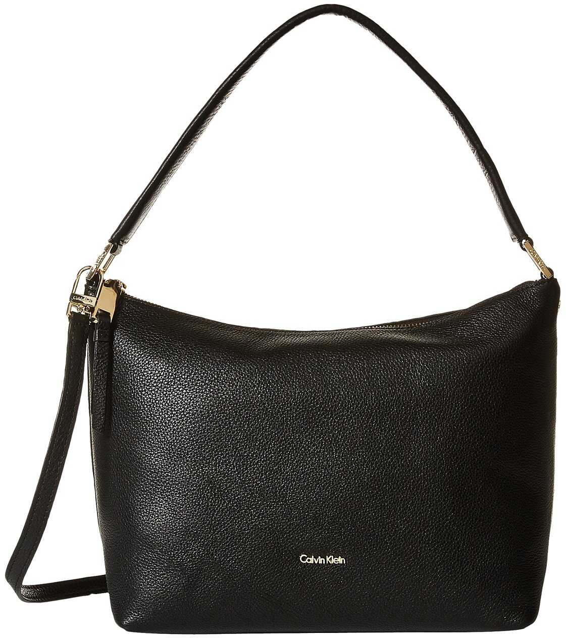 Calvin Klein Angelina Pebble Hobo Black/Gold
