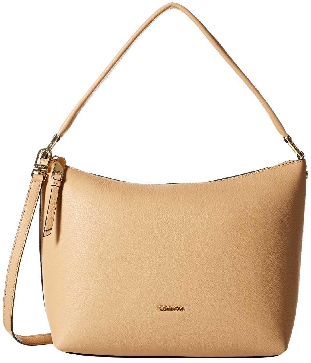 Calvin Klein Angelina Pebble Hobo Nude/Gold