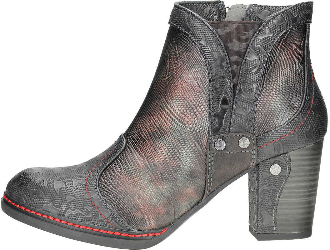 Mustang Metallic Multicolor Heel Shoe Ankle Boots In Black Multicolour Black