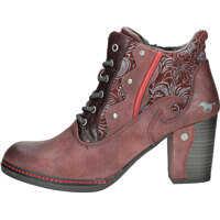 Botine Side Zip Heel Shoe Ankle Boots In Burgundy Femei